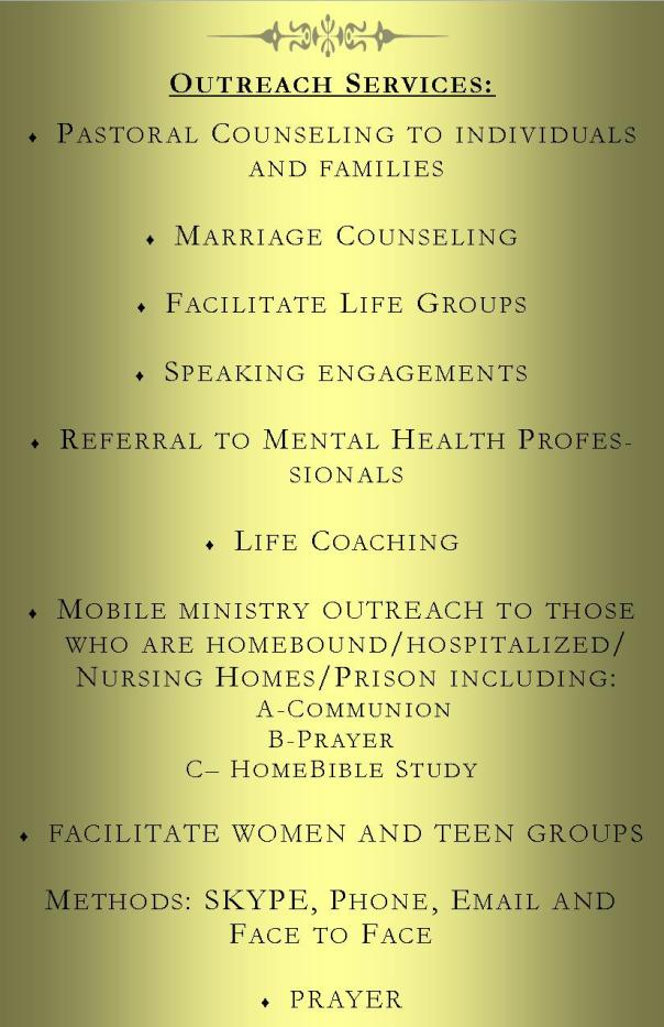 Healing for Your Soul Ministries Outreach-Services