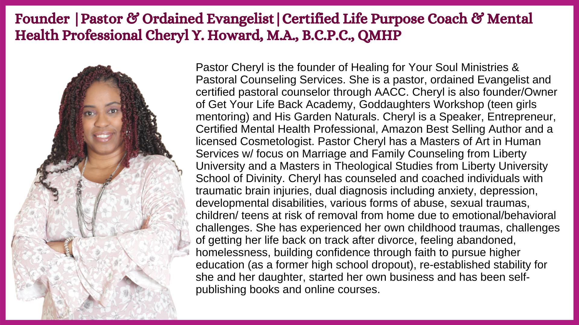 Pastor Cheryl Bio